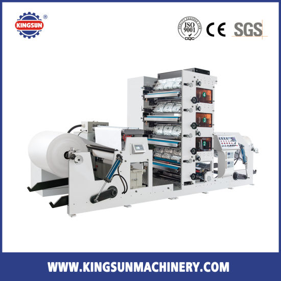 FP850B Paper Cup 4 colors Flexographic Printing Machine