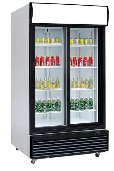 Double Door Commercial Upright Fruit Display Fridge LG-1000bfs