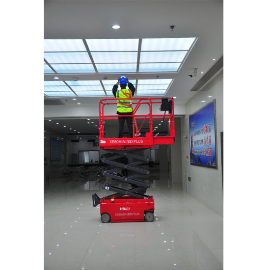 1000kg Trail-Type Small Platform Folding Scissor Lift