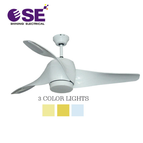 New Curved Blades LED Lamp 52 Inch Decoration Ceiling Fan with WiFi Control