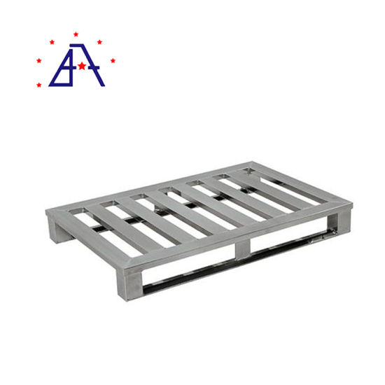 Space-Saving Anodized Extruded Aluminum Serving Pallet for Logistic