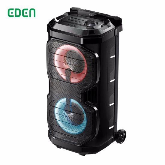 Professional Portable Wireless Rechargeable Multimedia DJ Karaoke Sound Box Trolley Bluetooth PA Speaker