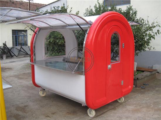 Ce Proved Double Service Windows Street Mini Food Truck Trailer Cart