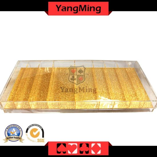 Acrylic Transparent Poker Chip Tray with Cover Casino Chip Case for Gambling Table Poker Games Ym-CT04
