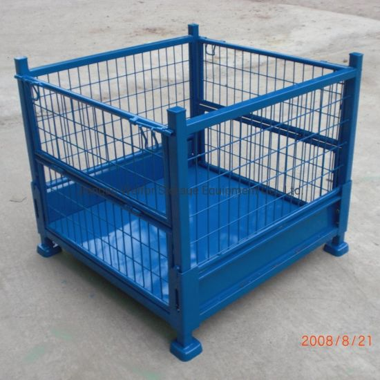 Stackable Foldable Steel Welded Heavy Duty Mesh Pallet Container pictures & photos