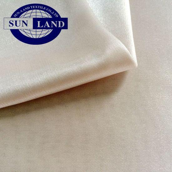 100% Polyester 50d Full Shiny Knitted Lining Interlock Fabric Feeling Like Silk