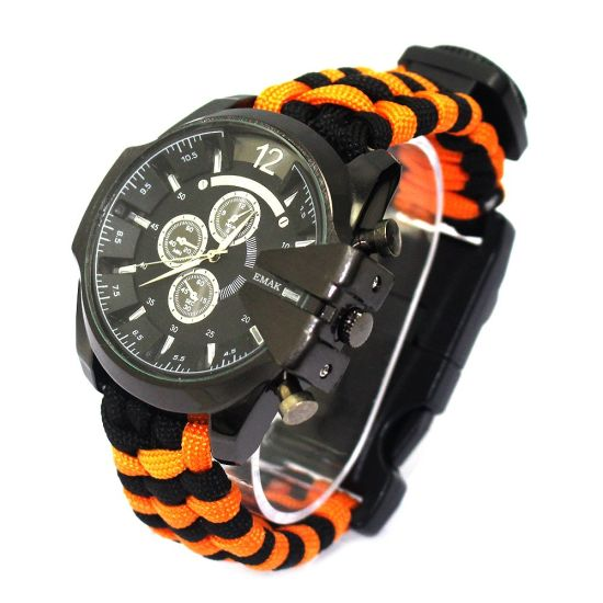 Military Braided Paracord Extreme Tactical Survival Watch