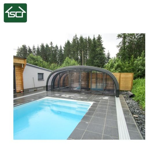 Easy to Slide Electric Arched Swimming Pool Cover with Hard ...