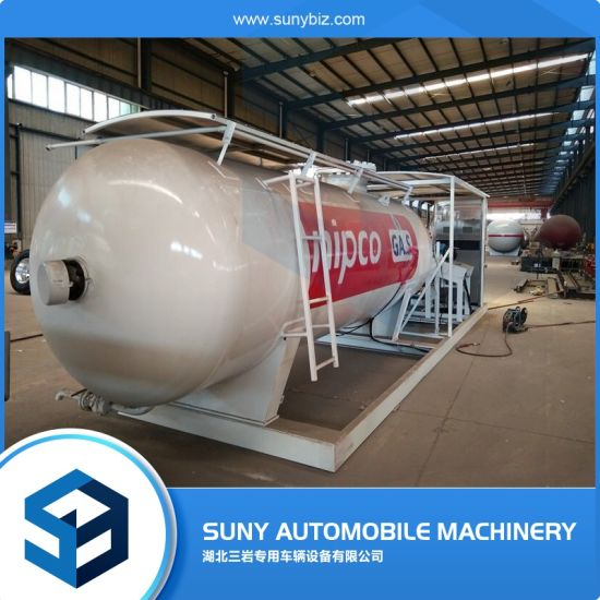 25cbm Liquid Propane Gas Skid Station for LPG Storage