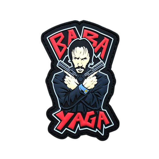 China John Wick Baba Yaga Pvc Morale Patch With Hook Backed China Patches And Pvc Patchs Price