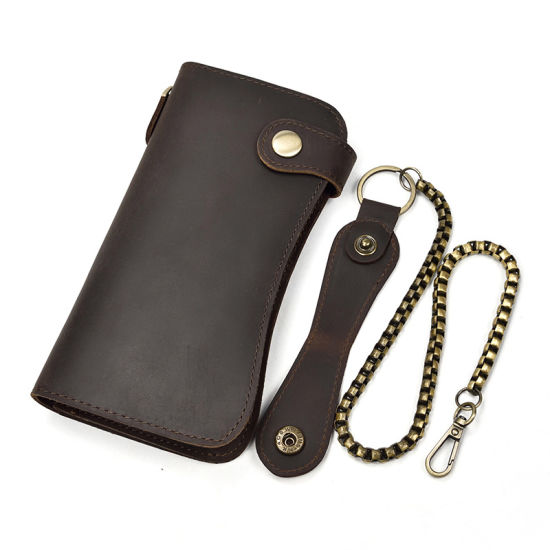 Vintage Style Wax Cow Leather Wallet for Cell Phone, Key, Card, Cash pictures & photos