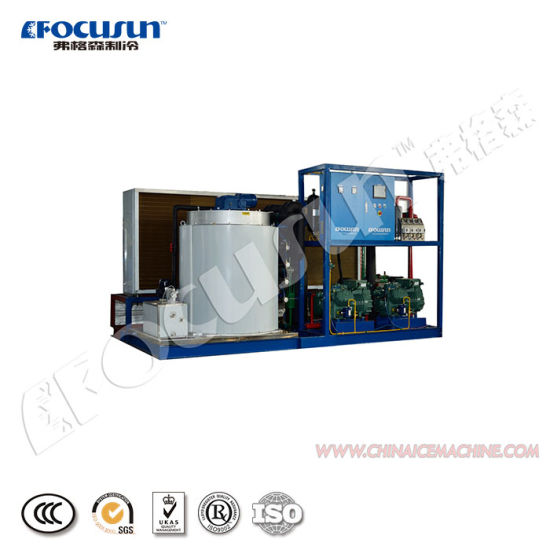 2020 Focusun 10 Ton Sea Midium Air Flake Ice Making Machine