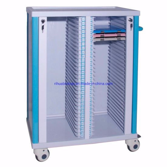 Hospital Double File Cart, Without Compartment Drawer