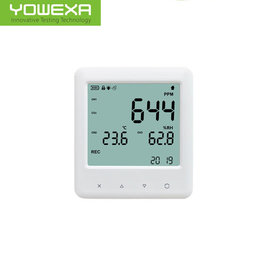 Air Thermometer CO2 and Temperature Humidity Monitor with Battery