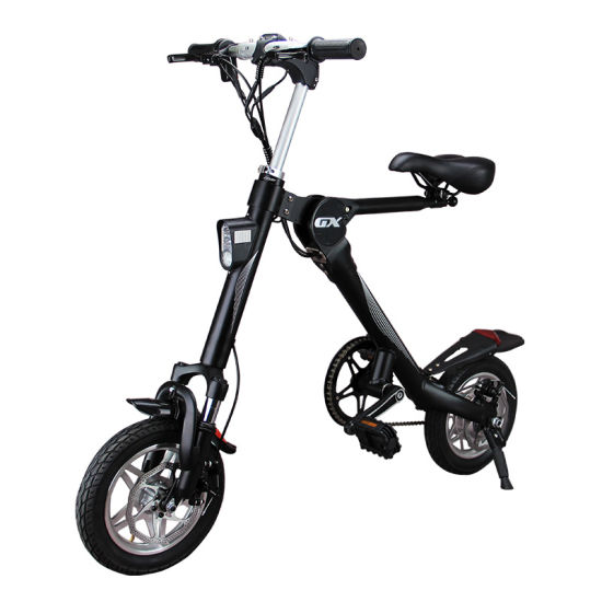 Portable 10ah 36V/48V 250W/500W Fat-Tyre Folding Lithium Battery Electric Bike pictures & photos