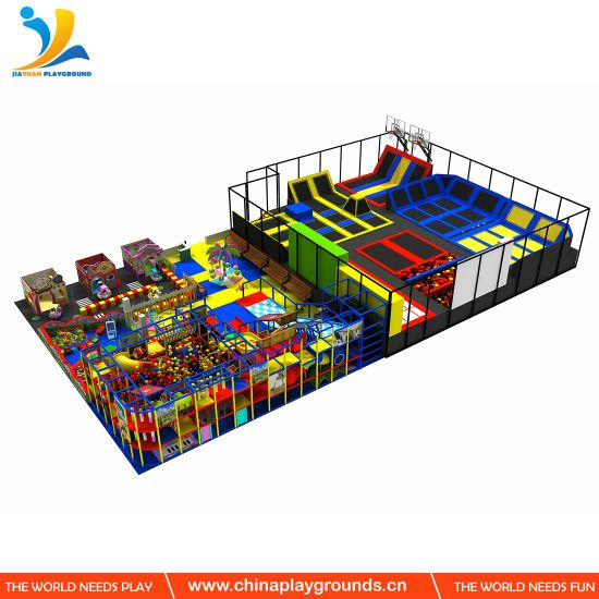 Soft Play Set for Kids Indoor Playground Trampoline Role Play House