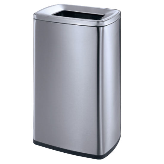 Max-Sn360A Indoor 20L/25L/30L Household Stainless Steel Metal Waste  Container Trash Can for Kitchen Trash Bins