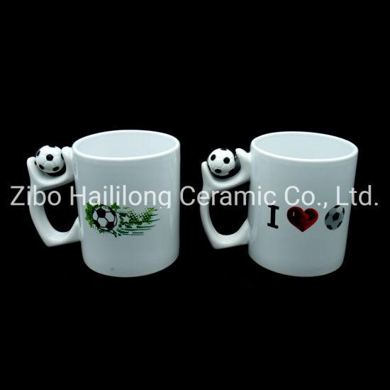 11oz Ceramic Mug with Foot Ball in Handle