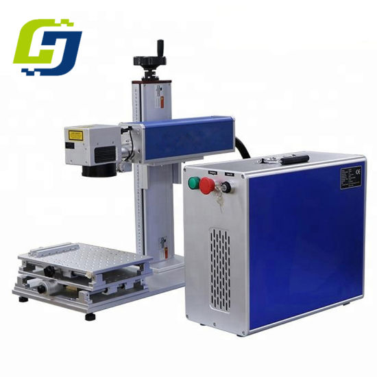 Portable Fiber Laser Marking Machine for Ring Plastic PVC ID Card Mark