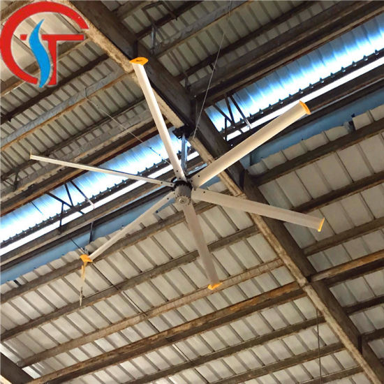 Energy Saving Low Speed Big Wind Warehouse Industrial Ventilation Hvls Ceiling Fans
