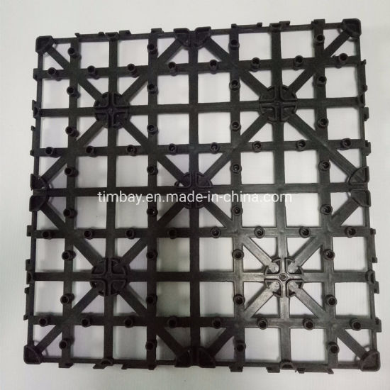 Interlocking Outdoor Plastic Base Economic Waterproof High Quality WPC Deck Tile