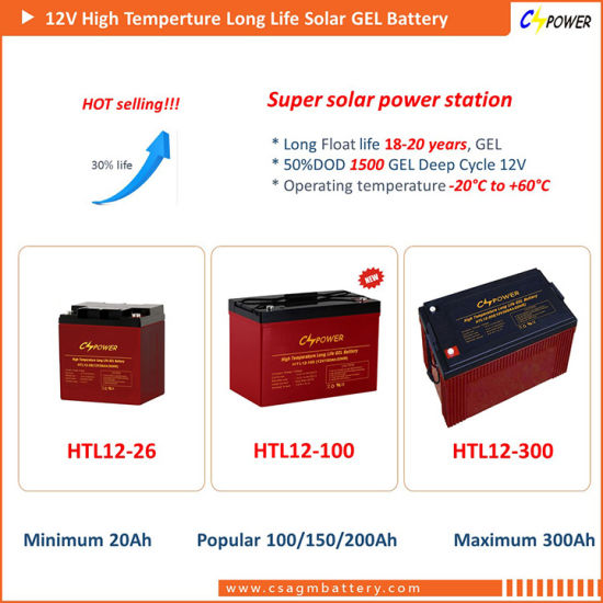Cspower 6V330ah Deep Cycle Gel Battery for Folklift pictures & photos