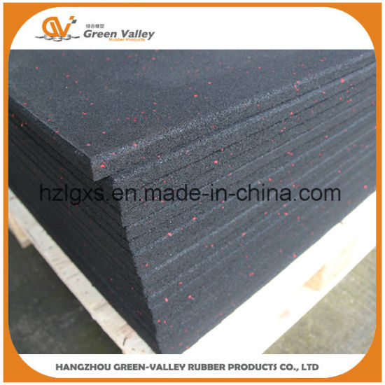 China 1mx1m Sound Insulating Rubber Mat Floor Tiles For Gym China
