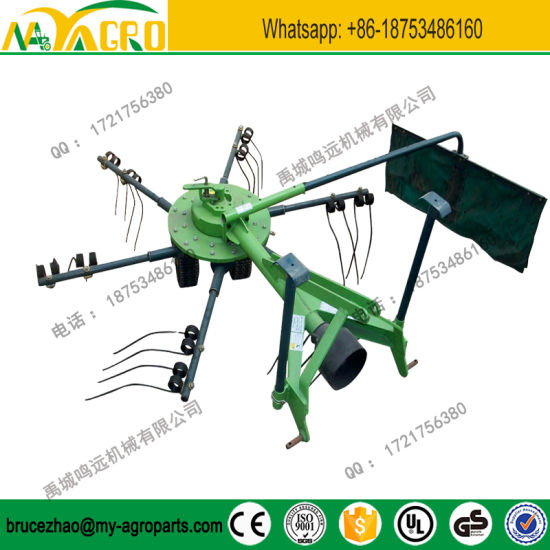 China Tractor Mounted Pto Driven Rotary Hay Tedder Rake