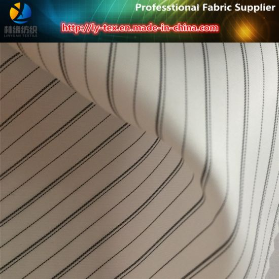Black Line, White Ground, Polyester Suit Lining Fabric (S132.133) pictures & photos