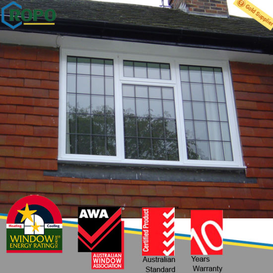 China Lead Free Upvc Hinge Window Grill Design For House China