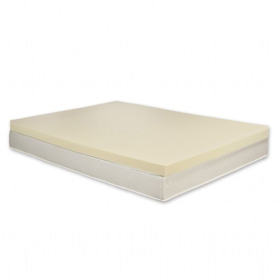 China Spa Sensations Memory Foam Mattress Topper In White Zip Cover