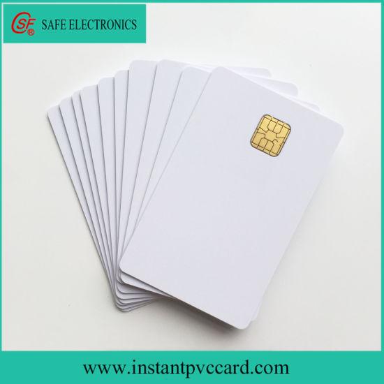 Fast Drying Inkjet Printable Blank Sle4428 Chip PVC Card