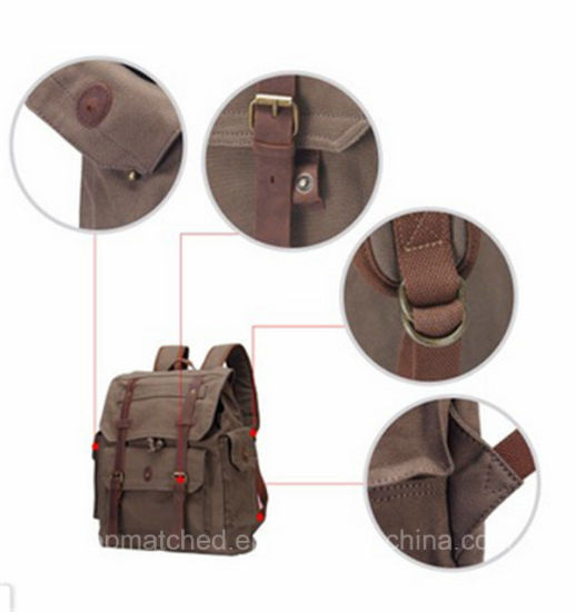 New 2017 Waxed Canvas Back Pack for Man pictures & photos