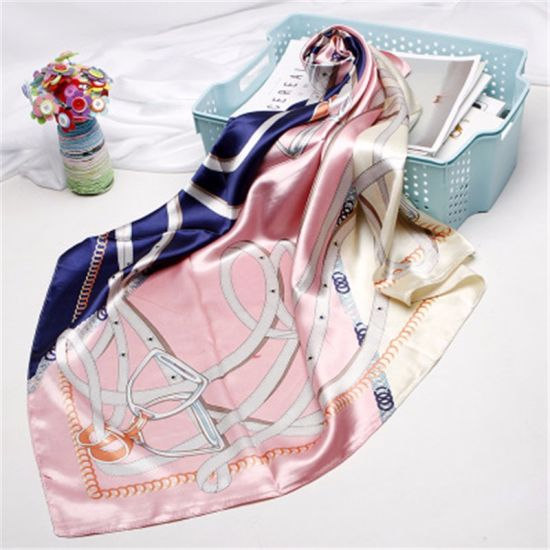 2019 Summer New High Quality Square Satin Scarf for Ladies