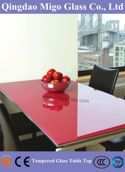 China Mm Mm Colored Safety Tabletop Glass For Restaurant Tables - Restaurant glass table tops
