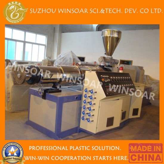 Plastic PE/PVC/PPR/HDPE/LDPE/CPVC/UPVC Pipe/ Tube/ Profile Extruder/ Single Screw/ Conical Twin/Double Screw/ Parallel Extrusion Machine Extruder