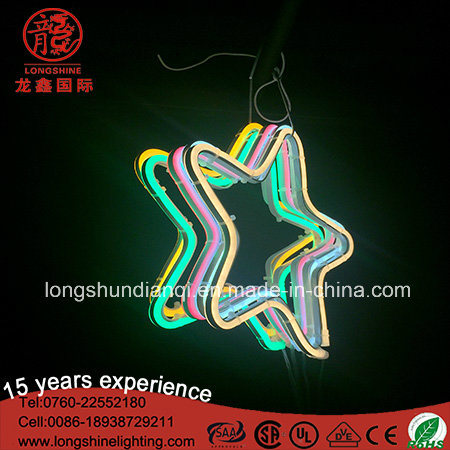 LED Acrylic IP65 Hanging Star Decorative Light Neon Sign for Christmas Decoration pictures & photos