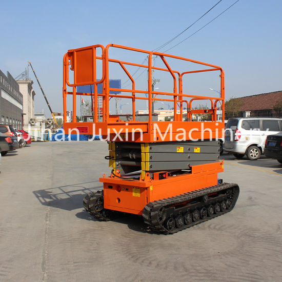 8m Hot Selling Crawler Self Propelled Scissor Lift Hydraulic Tracked Scissor Lift with Factory Price