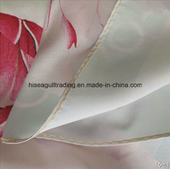 Machine Sewing Digital Print Silk Scarf Made of 16mm Silk Charmeuse Satin Fabric pictures & photos