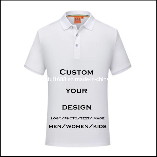Custom Design Your Own Logo Men's Short Sleeves Polo Shirts