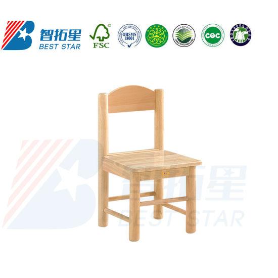 Hot Sales Children Kindergarten Kids Chair, Nursery School Furniture Classroom Desk and Table Chair, Preschool Studyroom Modern Wooden Chair