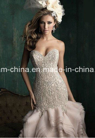 Stunning Beading Bodice Mermaid Trumpet Wedding Dress Prom Dress Wedding Gown (Dream-100033) pictures & photos
