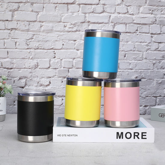 Wholesale Stainless Steel China Price Double Wall Vacuum Insulated Rambler 10oz Coffee Tumbler