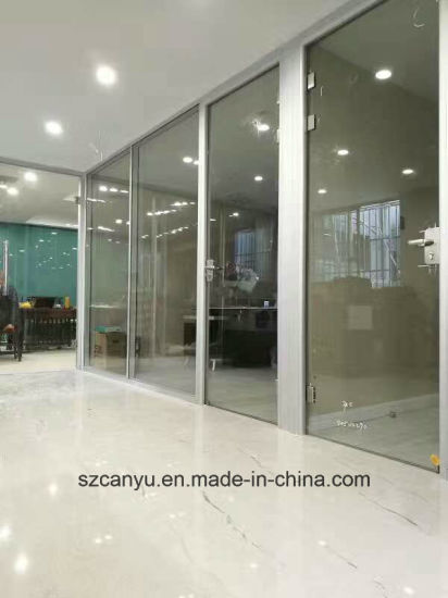 Single Clear Glass Wall Aluminium Office Partition pictures & photos