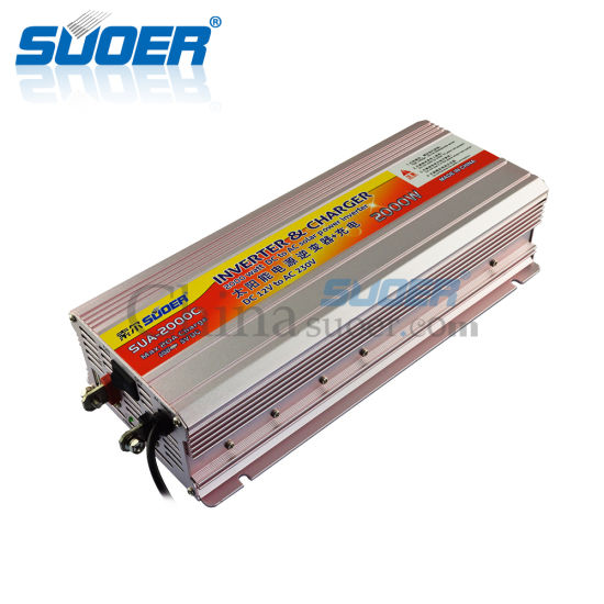 Suoer DC 12V 2000W Modified Sine Wave Power Inverter with Charger (SUA-2000C) pictures & photos