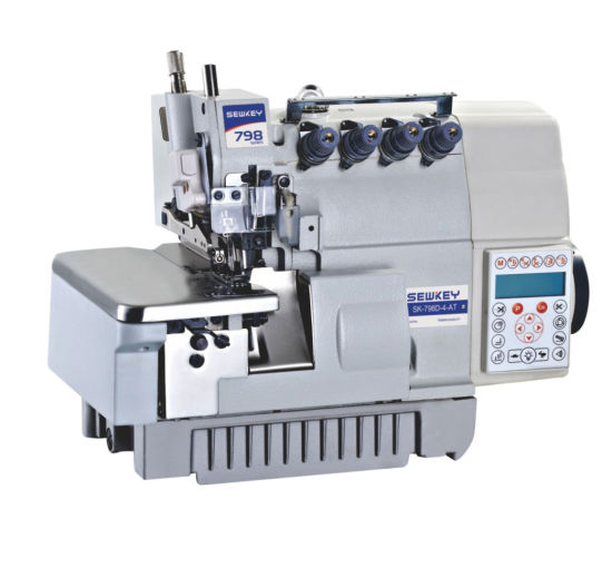 Sk798d-4-at Super High Speed Direct Drive Trimming Overlock Sewing Machine