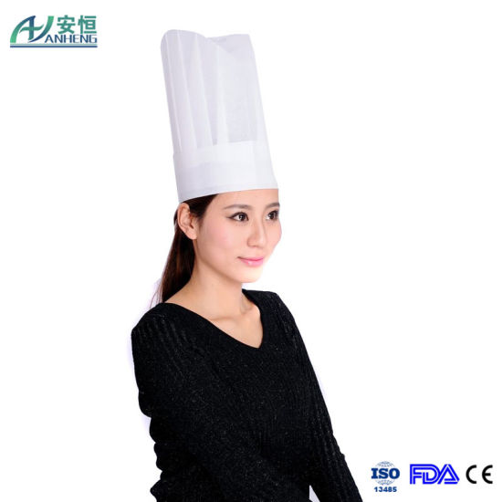 New Style Disposable Chef Hat/Non Woven Flat Top Chef Hats