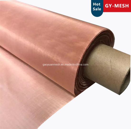 200 Mesh Shielding Pure Copper Wire Mesh Screen Factory Price