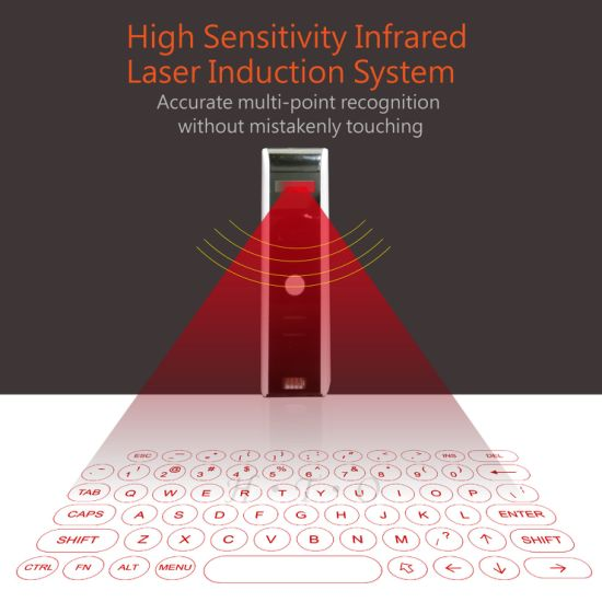 2019 OEM Best Christmas Gift Compact Portable Laser Virtual Keyboard Wireless Bluetooth Quick Connection