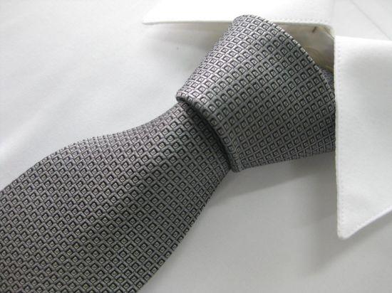 Classic Grey Colour Men's Fashion Woven Silk Neckties